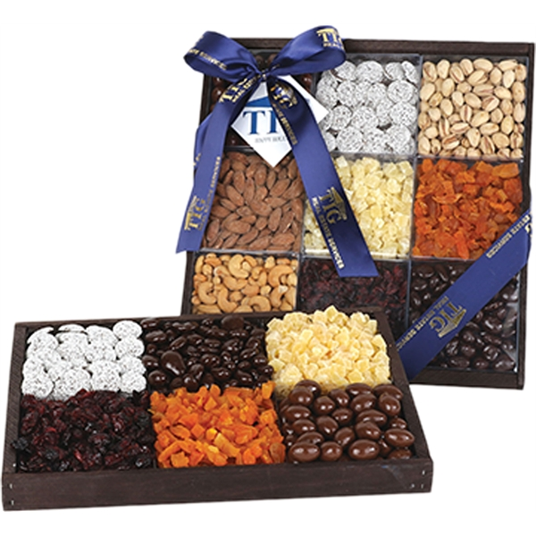 9 Section Dried Fruit, Nut and Chocolate Tray