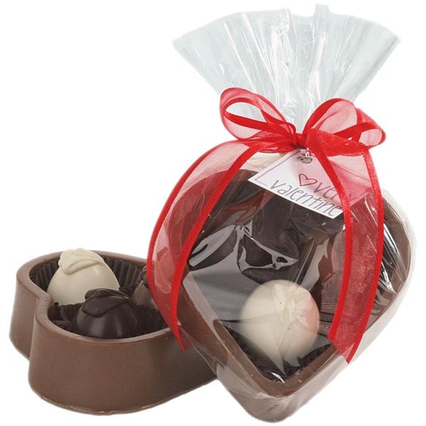 Edible Chocolate Heart Box with Truffles