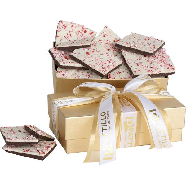 10oz Chocolate Peppermint Bark in Elegant Gift Box