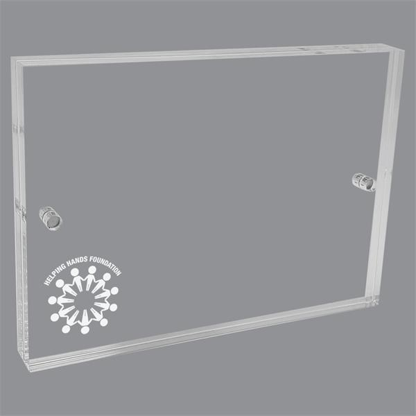 Etched Acrylic Block Picture Frames (6 Square Inches)