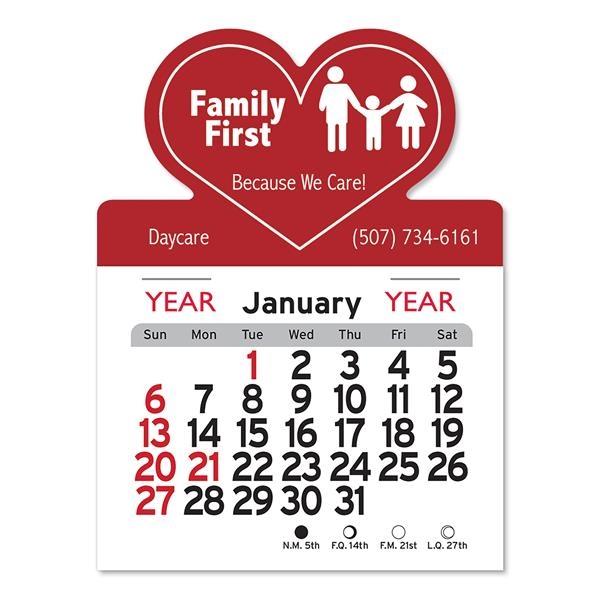 Heart Shaped Peel-N-Stick® Calendar