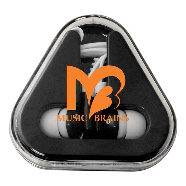 Earbuds with Triangle Case