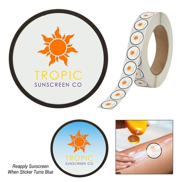 Sunburn Alert Circle Sticker