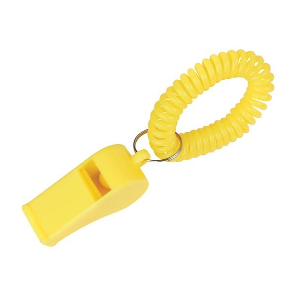 Whistle With Coil - Whistle with coil and split ring.