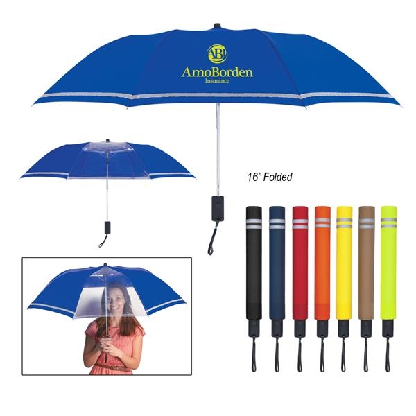 "48"" Arc Reflective Edge Inversion Umbrella"