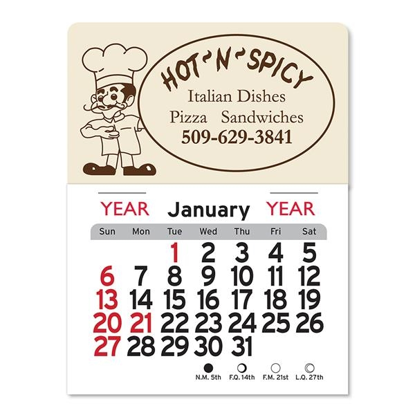 Pizza Man Peel-N-Stick® Calendar