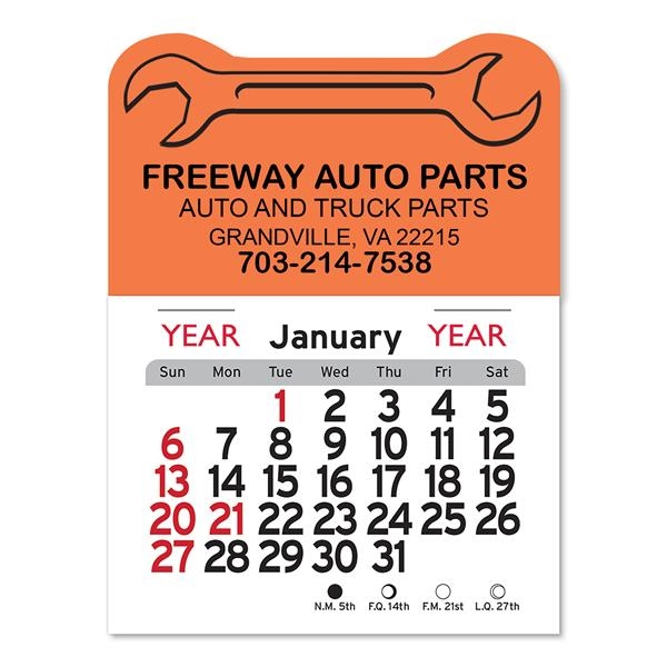 Wrench Peel-N-Stick® Calendar