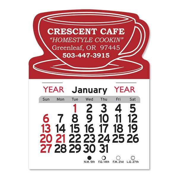 Coffee Cup Shaped Peel-N-Stick® Calendar