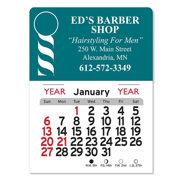 Barber Peel-N-Stick® Calendar