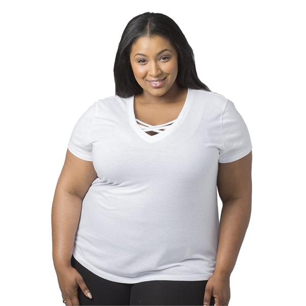 Boxercraft Women's Plus Size Caged Front T-Shirt