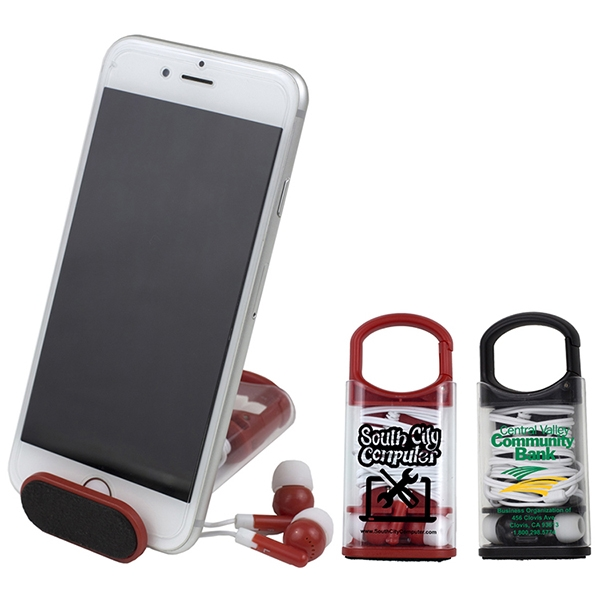 ExCell- Earbud Set & Phone Stand in Cara