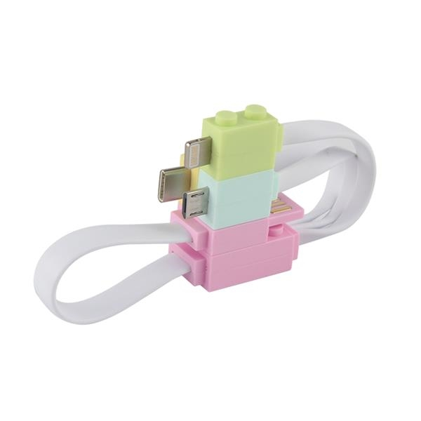 3-in1 Building Block Charging Cable