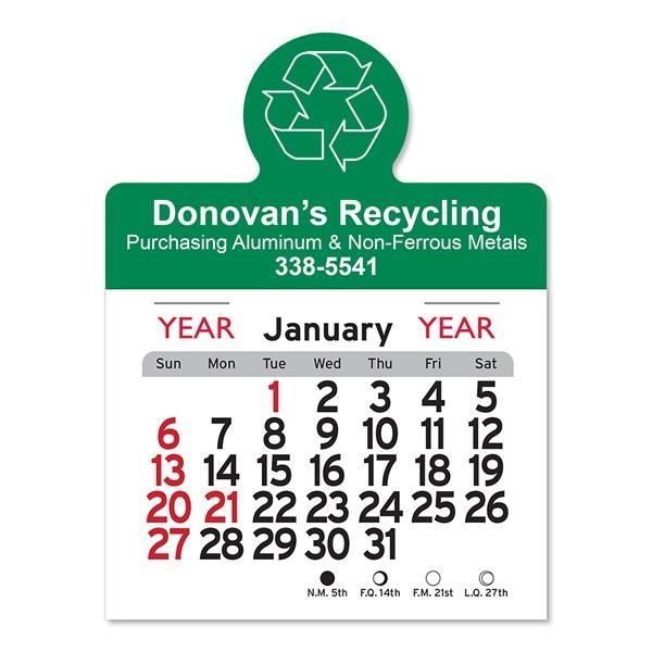 Recycling Circle Shaped Peel-N-Stick® Calendar
