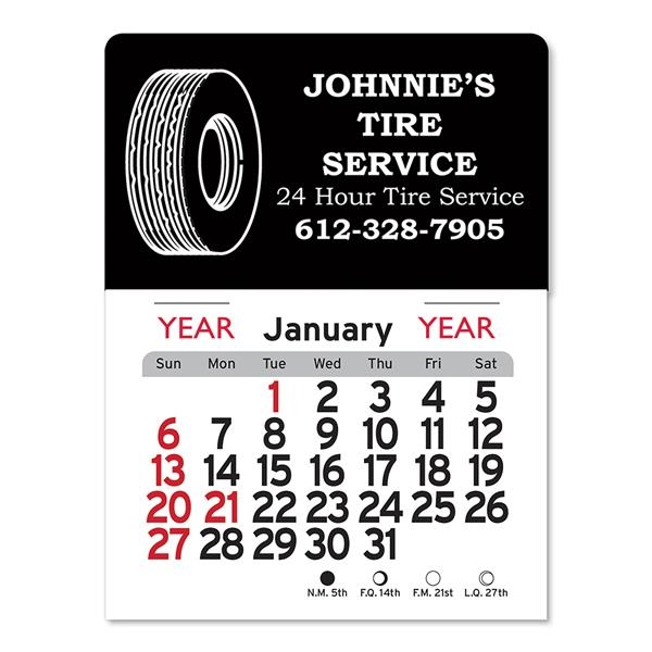 Tire Peel-N-Stick® Calendar