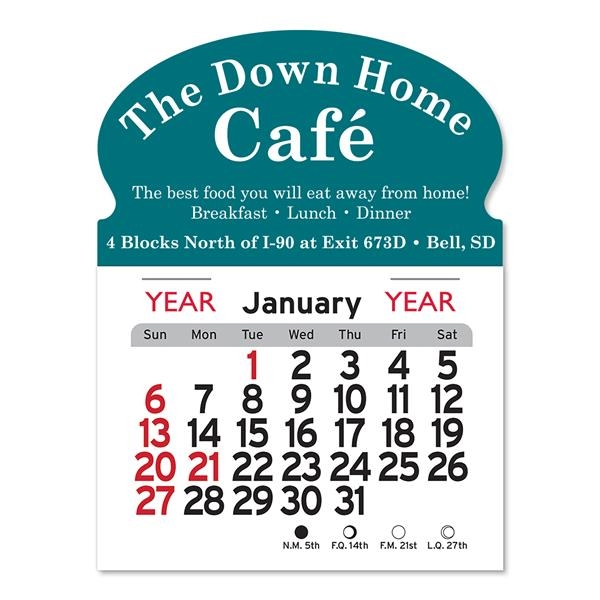 Oval Shaped Peel-N-Stick® Calendar