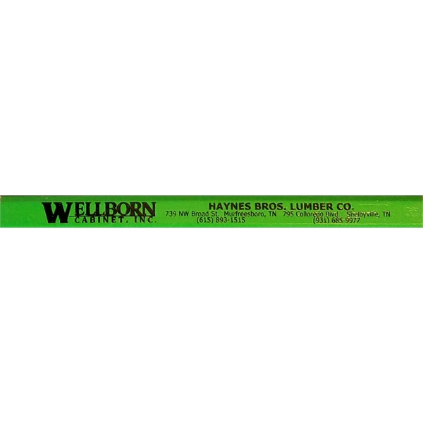 Carpenter pencil, imprinted 1 side 3 color