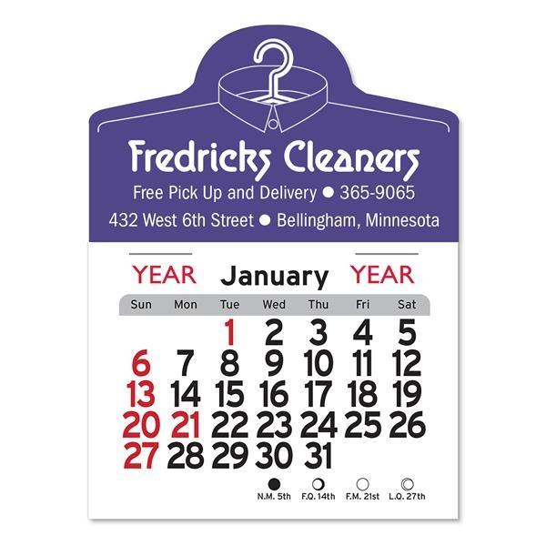 Dry Cleaner Shaped Peel-N-Stick® Calendar
