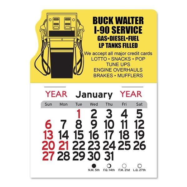 Gas Pump Peel-N-Stick® Calendar
