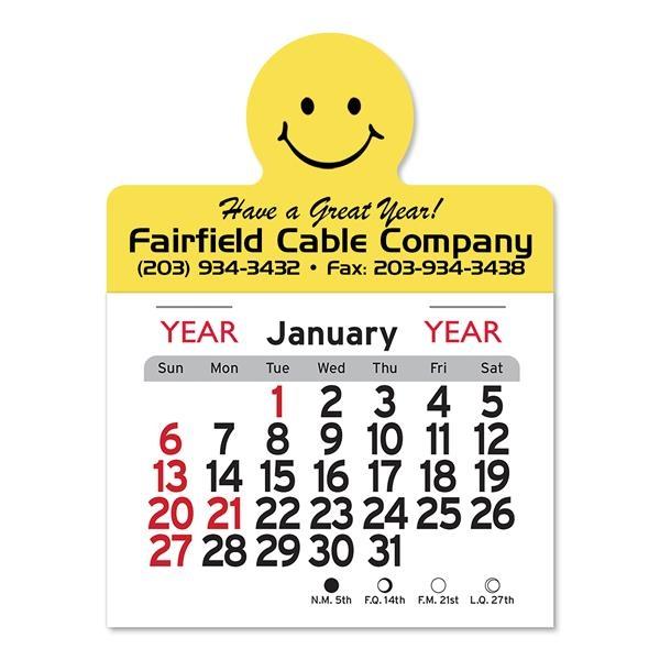 Smile Circle Shaped Peel-N-Stick® Calendar