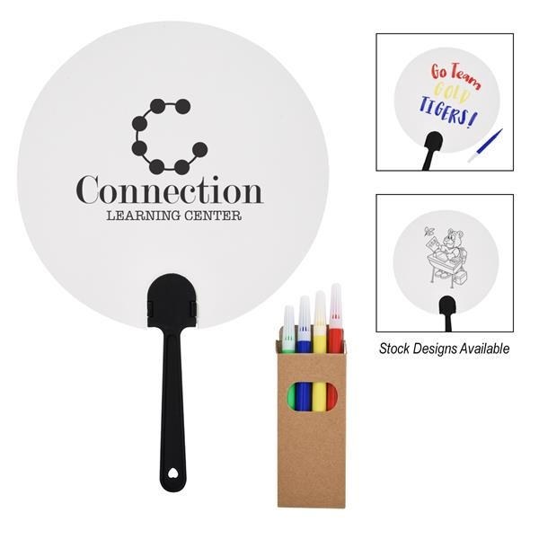 DIY Paper Fan & Marker Set