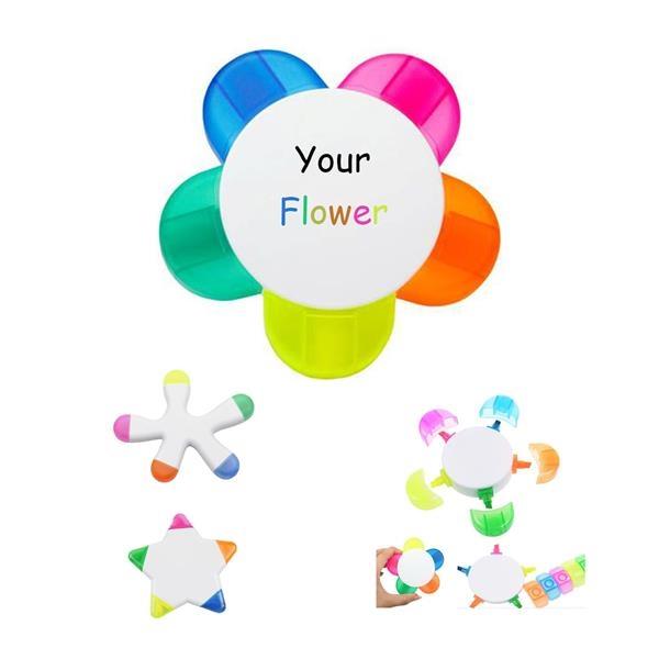 5 Color Fluorescent Watercolor Pen/ Flower/ Star/ Deformity