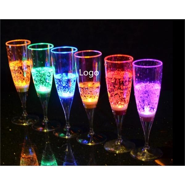 5oz LED Champagne plastic cup