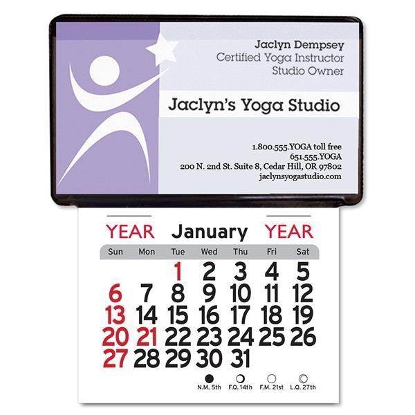 Adhesive Business Card Holder Calendar