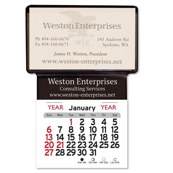 Adhesive Business Card Holder Calendar