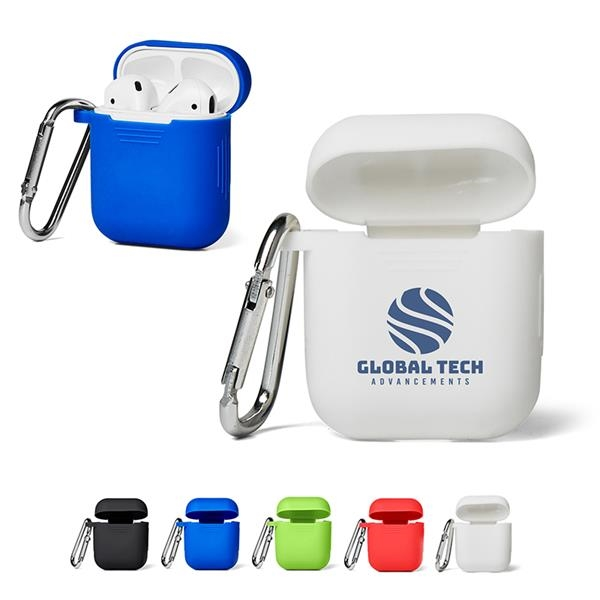 Silicone Earbud Case with Carabiner
