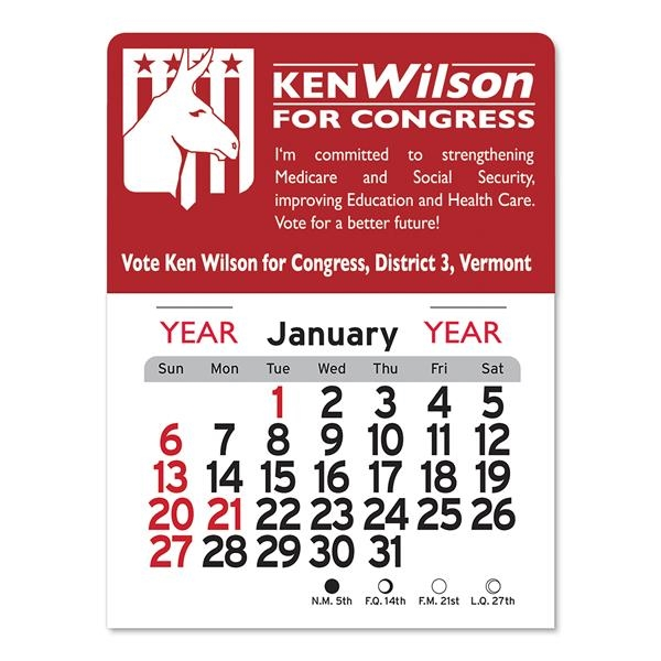Democrat Peel-N-Stick® Calendar