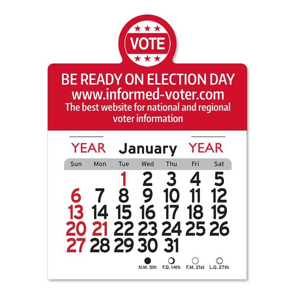Vote Peel-N-Stick® Calendar - Political