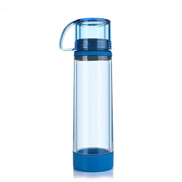 Double-Layer Glass Outdoor Sports Anti-Drop Water Bottle