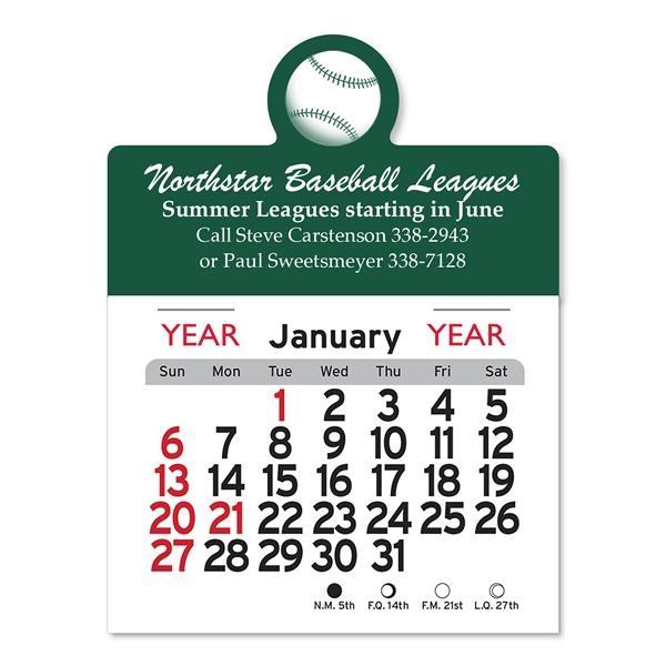 Baseball Peel-N-Stick® Calendar