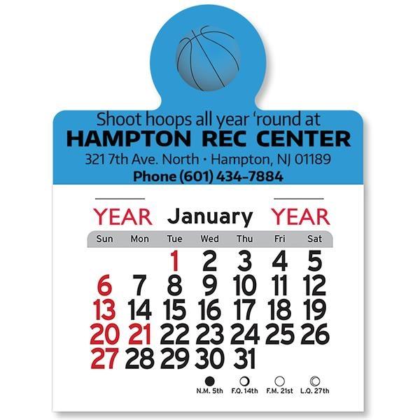 Basketball Peel-N-Stick® Calendar