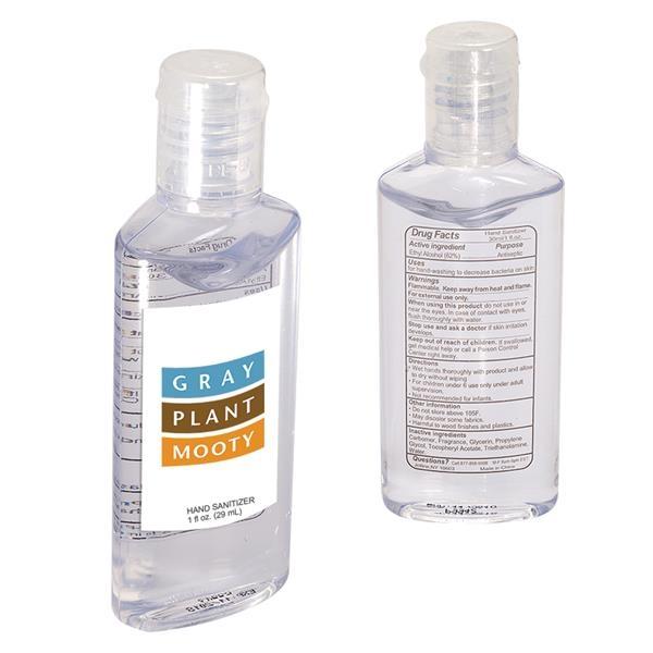 Hand Sanitizer in Oval Bottle - 1 oz.