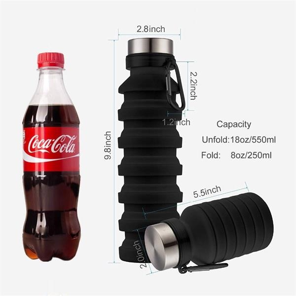 18 OZ Collapsible Foldable Water bottle