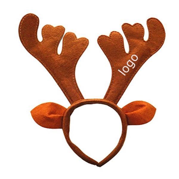 Christmas Plush Reindeer Antlers Headband