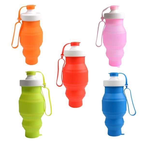 Folding Sports Cup Silicone Water Bottle