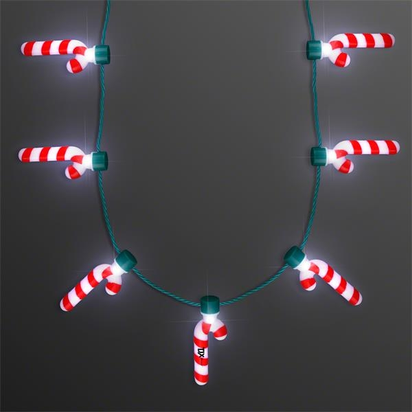 Candy Cane Lights Christmas Party Necklace