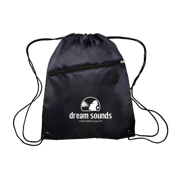 GLOBE TROTTER Drawstring Backpacks with Pocket