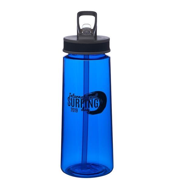 22 oz. Jog Sports Water Bottles with Straw