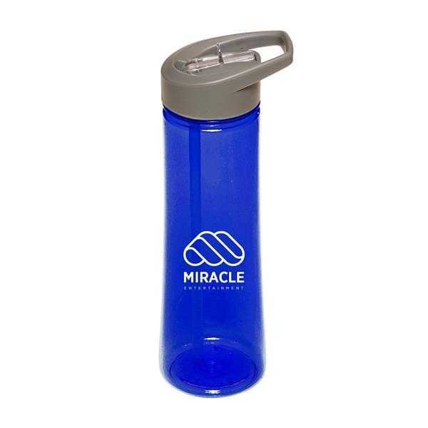 22 oz. AQUA Plastic Sports Water Bottles