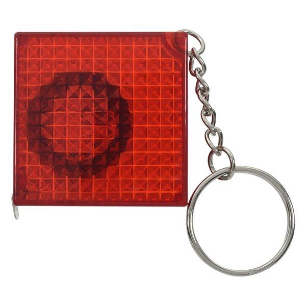Reflective Tape Measure Key Chain