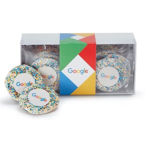 Sugar Cookie Gift Box - Corporate Color Nonpareil Sprinkles