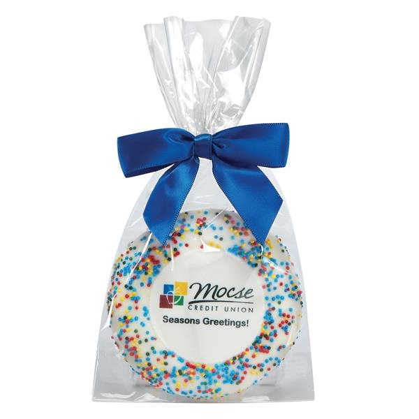 Sugar Cookie Gift Bags - Corporate Color Nonpareil Sprinkles