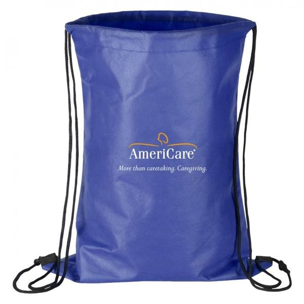 "Non Woven Drawstring Backpack - 13"" x 16"" non-woven reusable and recyclable backpack."