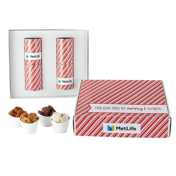 """4 Way 4"""" Cookie Gift Tube Sets in Mailer Box"""
