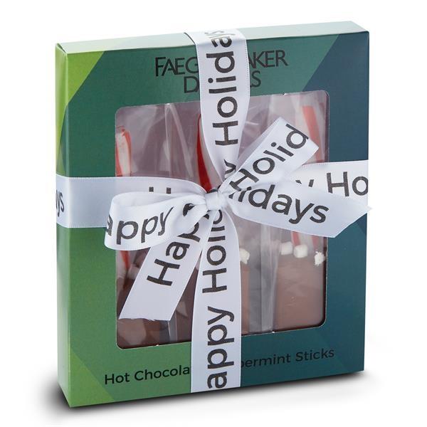 3 Piece Hot Chocolate Peppermint Stick Gift Box