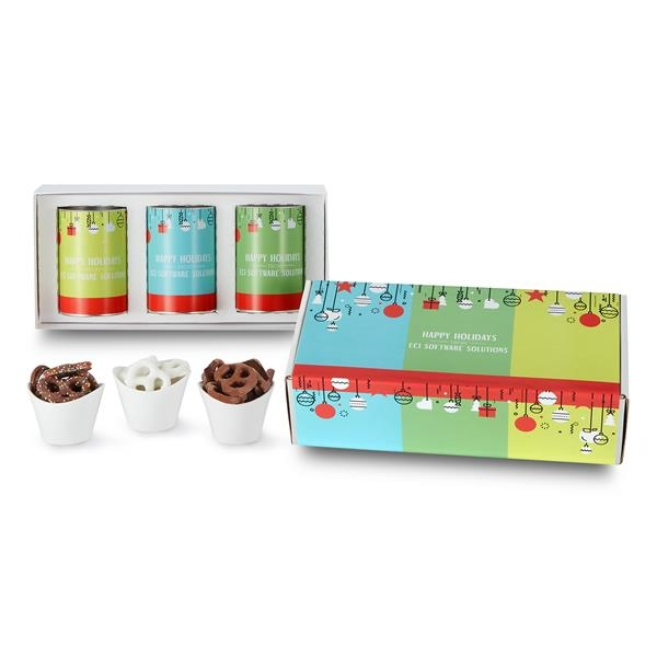 "3 Way 4"" Snack Tube Gift Sets in Mailer Box"