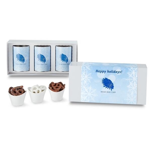 """3 Way 4"""" Snack Tube Gift Sets in Gift Box"""